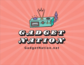 Gadget Nation logo on starburst